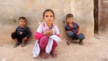 في أحد مخيمات ريف إدلب على مقربة من الحدود التركية (أحمد الأطرش/ فرانس برس)