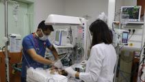 سورية تلد توأماً في أحد المستشفيات التركية(سليم تاس/ الأناضول)