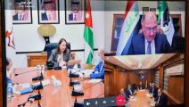 وزراء صناعة وتجارة الأردن ومصر والعراق في جلستهم عبر الإنترنت (بترا)