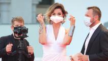 الممثلة ألبا بارييتي في مهرجان البندقية (ماتيو شينيلاتو/Getty)