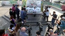 مؤتمر النادي العلماني في ساحة الشهداءبوسط بيروت (حسين بيضون)