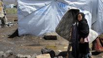 الخيام لا تحمي النازحين (محمد حمود/ الأناضول)