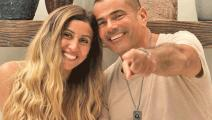 انفصل عمر دياب عن دينا الشربيني (فيسبوك)