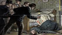رسمة مرافقة لحلقة من رواية بوليسية في 1899