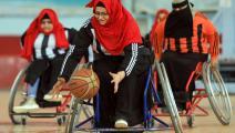 يمنيات ذوات إعاقة لاعبات كرة سلة- فرانس برس