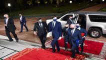 كوشنر برفقة وفد إسرائيلي خلال زيارة الرباط / فرانس برس