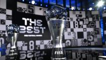 ZURICH, SWITZERLAND - DECEMBER 17: The Best FIFA Women's Player and The Best FIFA Men's Player awards are seen prior to the The Best FIFA Football Awards on December 17, 2020 in Zurich, Switzerland. (Photo by Valeriano Di Domenico - Pool/Getty Images)