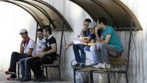 طلاب ثانوية عامة سوريون في دمشق- فرانس برس