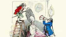 كاريكاتير من القرن الثامن عشر (Getty)
