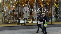 حركة تسوق ضعيفة في شارع أوكسفورد ستريت بلندن
