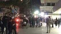 احتجاج في مدينة صيدا لبنان على ارتفاع الدولار وغلاء المعيشة (الوكالة الوطنية للإعلام)