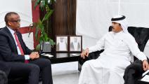 وزير العمل الصومالي في غرفة قطر (تويتر)