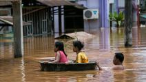 فيضانات ميانمار (ساي أونغ ماين/ فرانس برس)