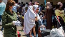في انتظار العبور إلى كردستان العراق(دليل سليمان/ فرانس برس)