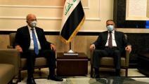 مصطفى الكاظمي وبرهم صالح (فيسبوك)