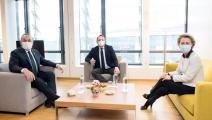 مولود جاووش أوغلو يلتقي رئيسة المفوضية الأوروبية(الأناضول)
