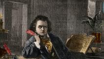 من رسمة لبيتهوفن في كتاب من القرن 19