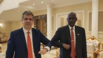 التطبيع - وزير الدفاع - السودان - إيلي كوهين - تويتر
