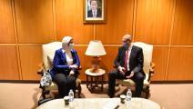وزير الصحة اللبناني ووزيرة الصحة المصرية- لبنان (تويتر)