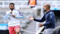 mahrez and Pep Guardiola