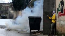 مواجهات مع جيش الاحتلال في كفر قدوم أثناء قمعه لمسيرة القرية الأسبوعية (تويتر)