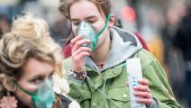تظاهرة ضد تلوث الهواء في لندن (أولي ميلينتغتون/ Getty)