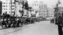 (عودة الجيش التركي إلى إسطنبول عام 1923 بعد الاعتراف بالدولة التركية، Getty)