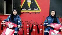 الدفاع المدني في مخيم برج البراجنة- العربي الجديد