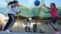 فتيات في ليبيا (محمود تركية/ فرانس برس)