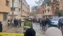 موقع جريمة قتل عائلة في سلا المغربية (فيسبوك)