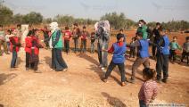 حافلات تعليمية في مخيمات إدلب