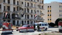 حاجز لقوات النظام السوري في حلب (مكسيم بوبوف/ فرانس برس)