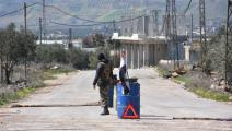 حاجز لقوات النظام السوري في سورية (فرانس برس)
