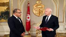 قيس سعيد وهشام المشيشي