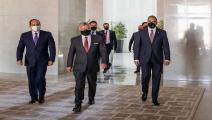 السيسي وملك الأردن ورئيس وزراء العراق/ الأناضول