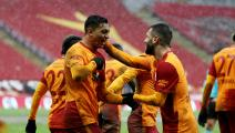 ISTANBUL, TURKEY - FEBRUARY 14: Mostafa Mohamed (31) of Galatasaray celebrates with his teammates after scoring a goal during Turkish Super Lig soccer match between Galatasaray and Kasimpasa at Turk Telekom Stadium in Istanbul, Turkey on February 14, 2021. (Photo by Ahmet Bolat/Anadolu Agency via Getty Images)