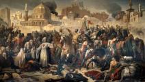 رسم يصور احتلال القدس من قبل الصليبيين عام 1099 - القسم الثقافي