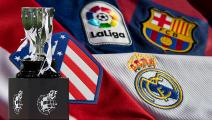 MADRID, SPAIN - JULY 16: Spanish league trophy during the La Liga match between Real Madrid CF and Villarreal CF at Estadio Alfredo Di Stefano on July 16, 2020 in Madrid, Spain. (Photo by Diego Souto/Quality Sport Images/Getty Images)