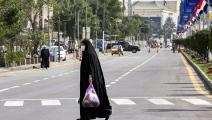 في حي الكرادة وسط بغداد (صباح عرار/ فرانس برس)