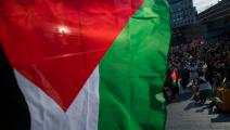 تحرّك سابق دعماً للفلسطينيين في استوكهولم (جوناثان ناكستراند/ فرانس برس)