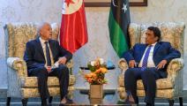 المنفي يستقبل قيس بن سعيد (الرئاسة التونسية)