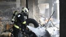 تفجير يضرب مدينة الباب/الدفاع المدني السوري/فيسبوك