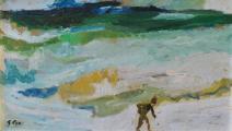 """من لوحة """"الشاطئ"""" لـ جورج سير (1880 - 1964)"""
