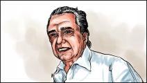 المهدي المنجرة في بورتريه لـ عماد حجاج (العربي الجديد)