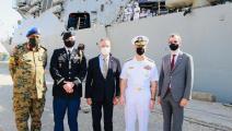 سياسة/(يو إس إس ونستون تشرشل) بميناء بورتسودان/(تويتر)