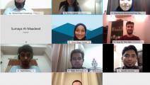 فريق جامعة قطر المطور لتطبيق كشف الإصابة بكورونا (تويتر)