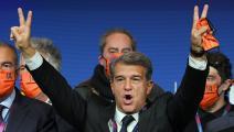 بطريقة خاصة... غوارديولا ونجوم كرة القدم يحتفلون بفوز لابورتا
