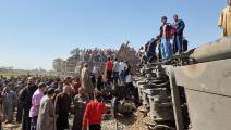 حادث تصادم بين قطارين في سوهاج (فرانس برس)
