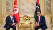 قيس سعيد وعبد الحميد الدبيبة (المكتب الإعلامي لرئيس حكومة الوحدة الوطنية اللبيبة)