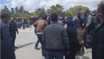 فض اعتصام حاملي الدكتوراه في تونس بالقوة (فيسبوك)